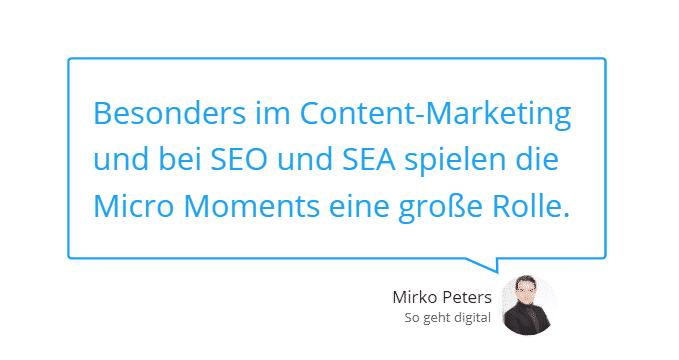 Micro Moment erkennen und im Marketing nutzen