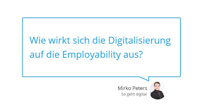 Employability in Zeiten der Digitalisierung