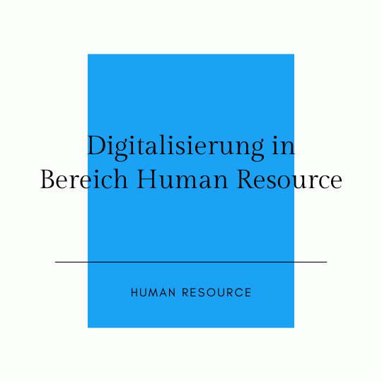 Digitalisierung in der Human Recource large