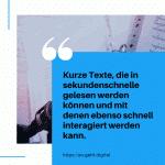 Kurze Texte die in sekundenschnelle gelesen werden können und mit denen ebenso schnell interagiert werden kann sind auf allen sozialen Netzwerken beliebt small