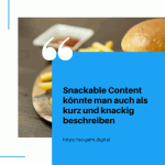 Snackable Content könnte man auch als kurz und knackig beschreiben small